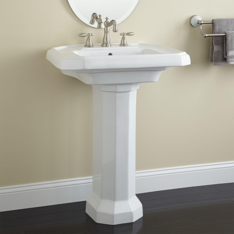 Best ideas about Bathroom Pedestal Sink . Save or Pin Drexel Porcelain Pedestal Sink Pedestal Sinks Bathroom Now.