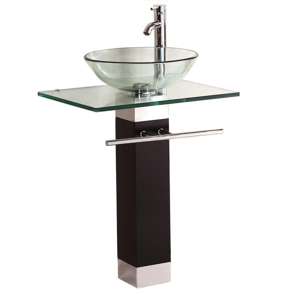 Best ideas about Bathroom Pedestal Sink . Save or Pin Kokols Pedestal bo Bathroom Sink in Clear WF 09 The Now.