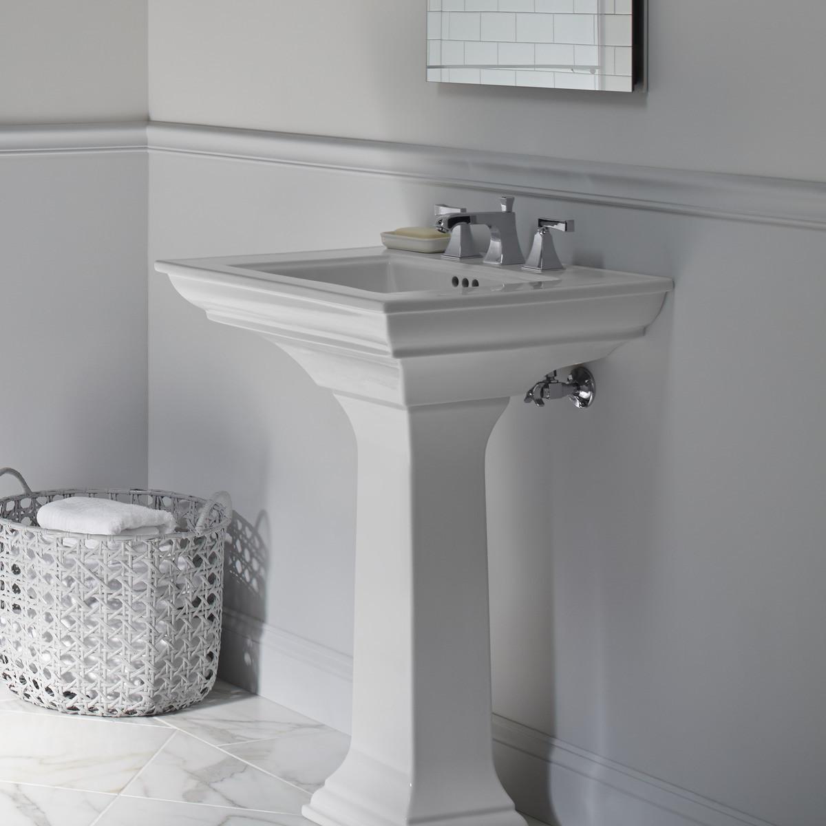 Best ideas about Bathroom Pedestal Sink . Save or Pin Kohler Memoirs Bathroom Sink Pedestal & Reviews Now.