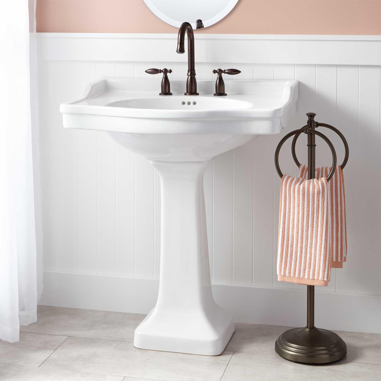 Best ideas about Bathroom Pedestal Sink . Save or Pin Cierra Porcelain Pedestal Sink Pedestal Sinks Now.