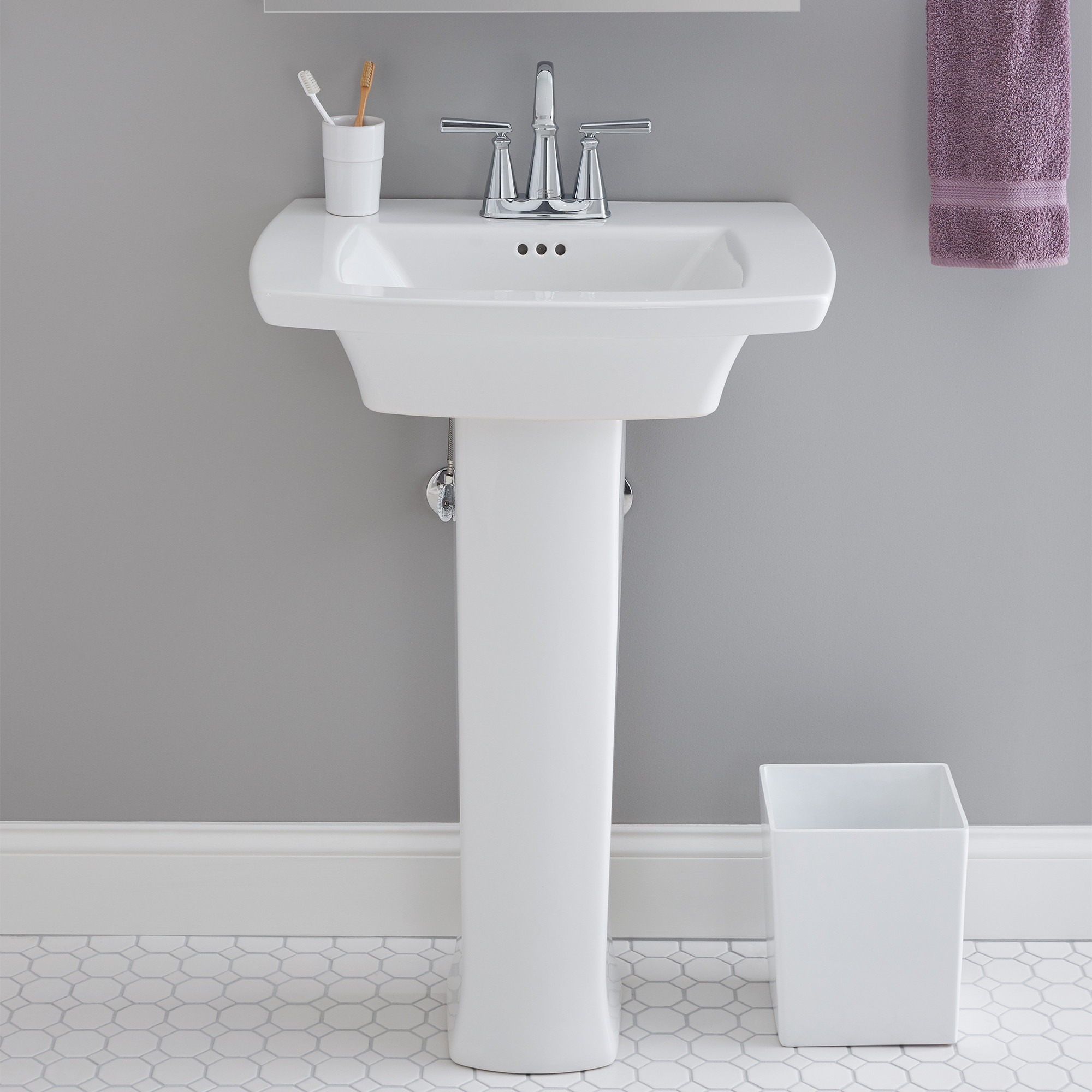 Best ideas about Bathroom Pedestal Sink . Save or Pin Edgemere Pedestal Sink Center Hole ly Now.