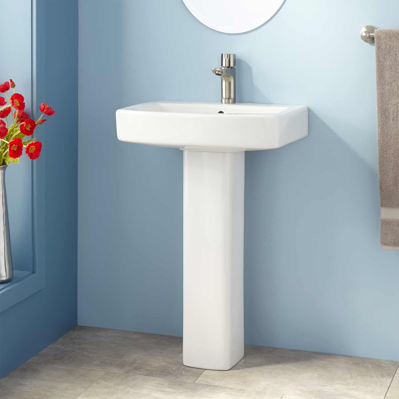 Best ideas about Bathroom Pedestal Sink . Save or Pin Medeski Porcelain Pedestal Sink Bathroom Now.