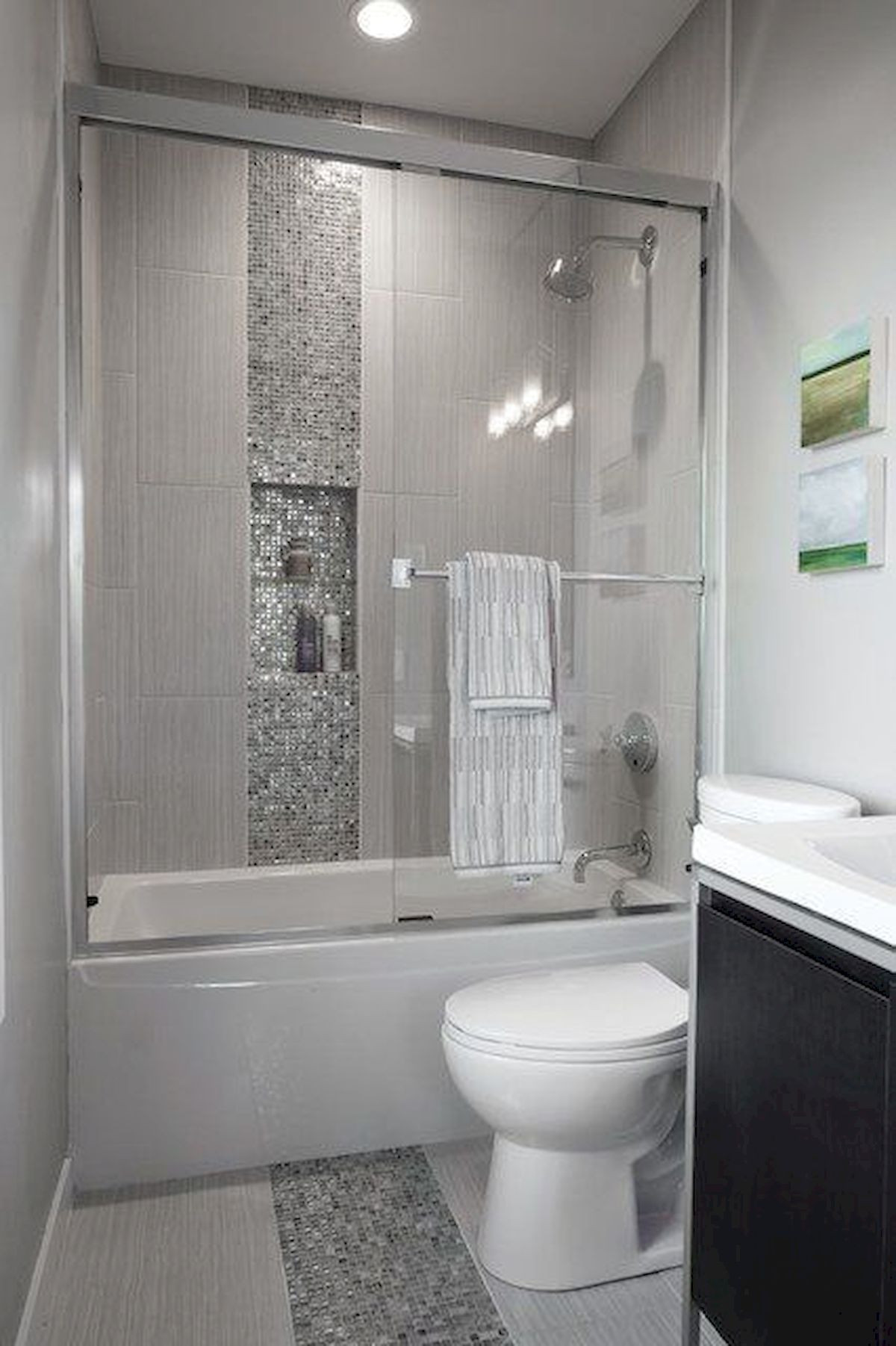 Best ideas about Bathroom Remodel Ideas 2019 . Save or Pin 60 Elegant Small Master Bathroom Remodel Ideas 20 in 2019 Now.