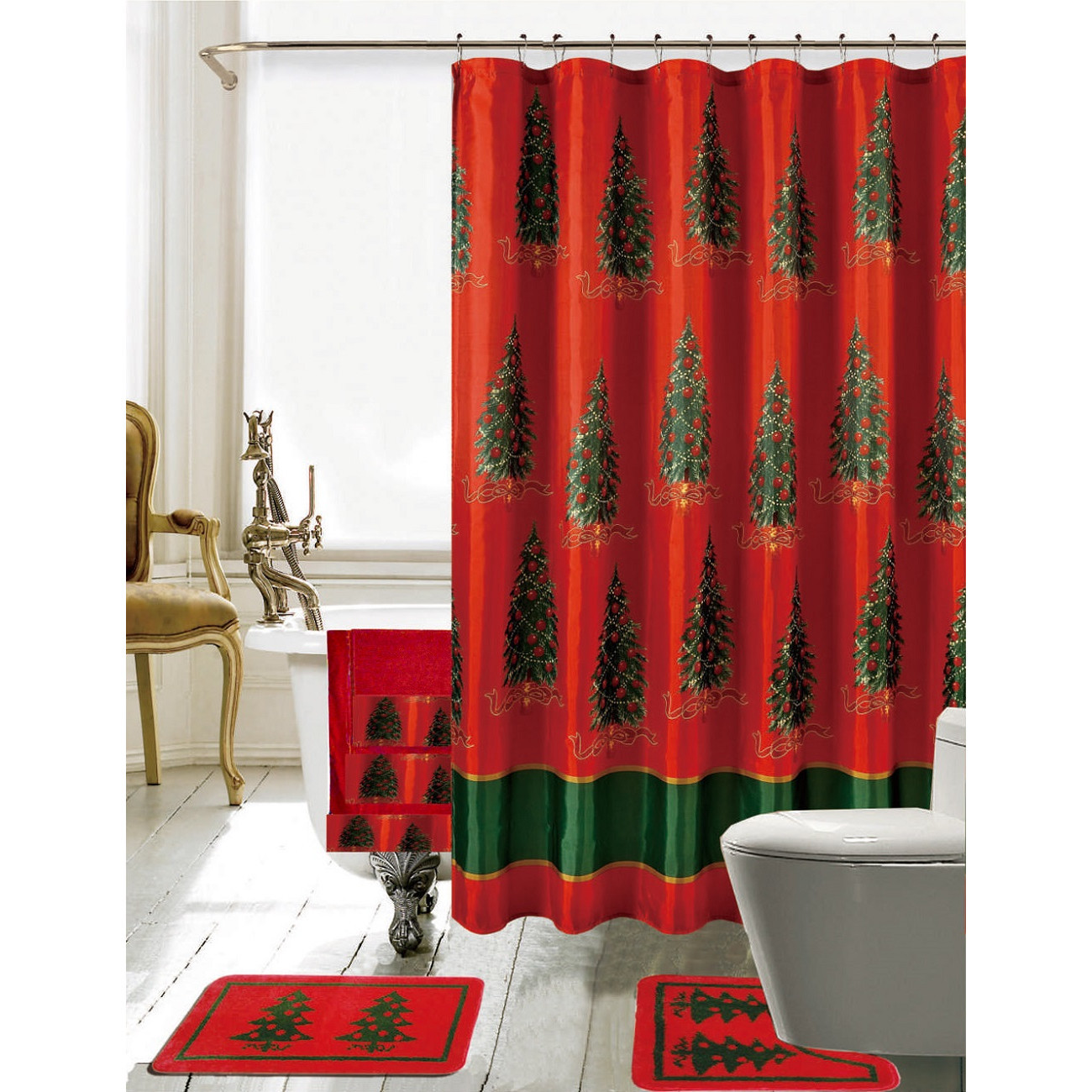 Best ideas about Bathroom Sets With Shower Curtain . Save or Pin Daniels Bath Christmas Bathroom Decor 18 Piece Shower Now.