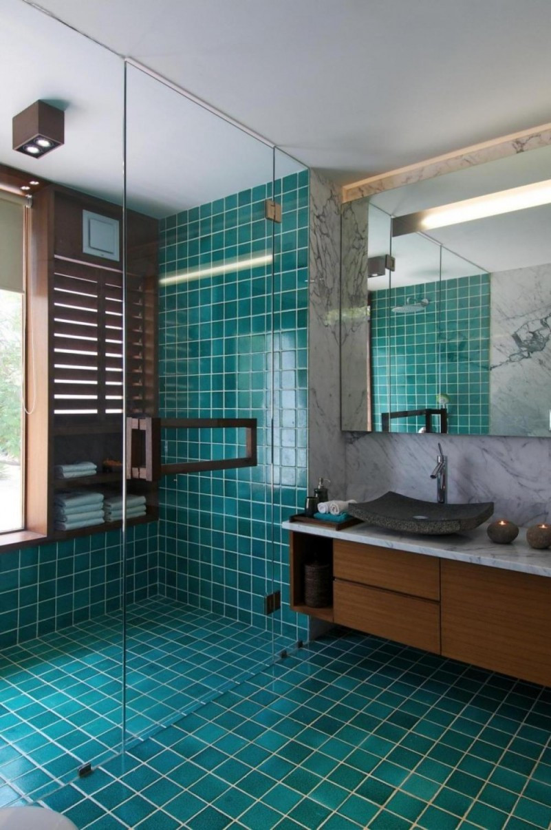 Best ideas about Bathroom Tiles Design . Save or Pin 20 Functional & Stylish Bathroom Tile Ideas Now.