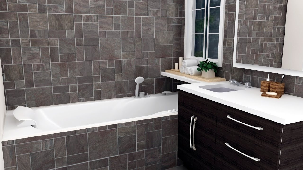 Best ideas about Bathroom Tiles Design . Save or Pin small bathroom tile design ideas Now.