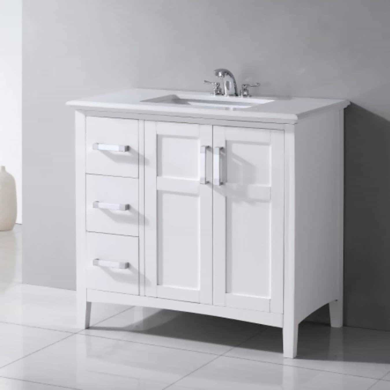 Best ideas about Bathroom Vanities Cheap . Save or Pin Cheap Bathroom Vanity in White Under $200 Cheap Bathroom Now.