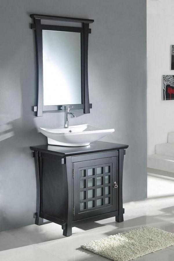 Best ideas about Bathroom Vanity 30 Inch . Save or Pin 30 Inch Modern Vessel Sink Bathroom Vanity in Dark Walnut Now.