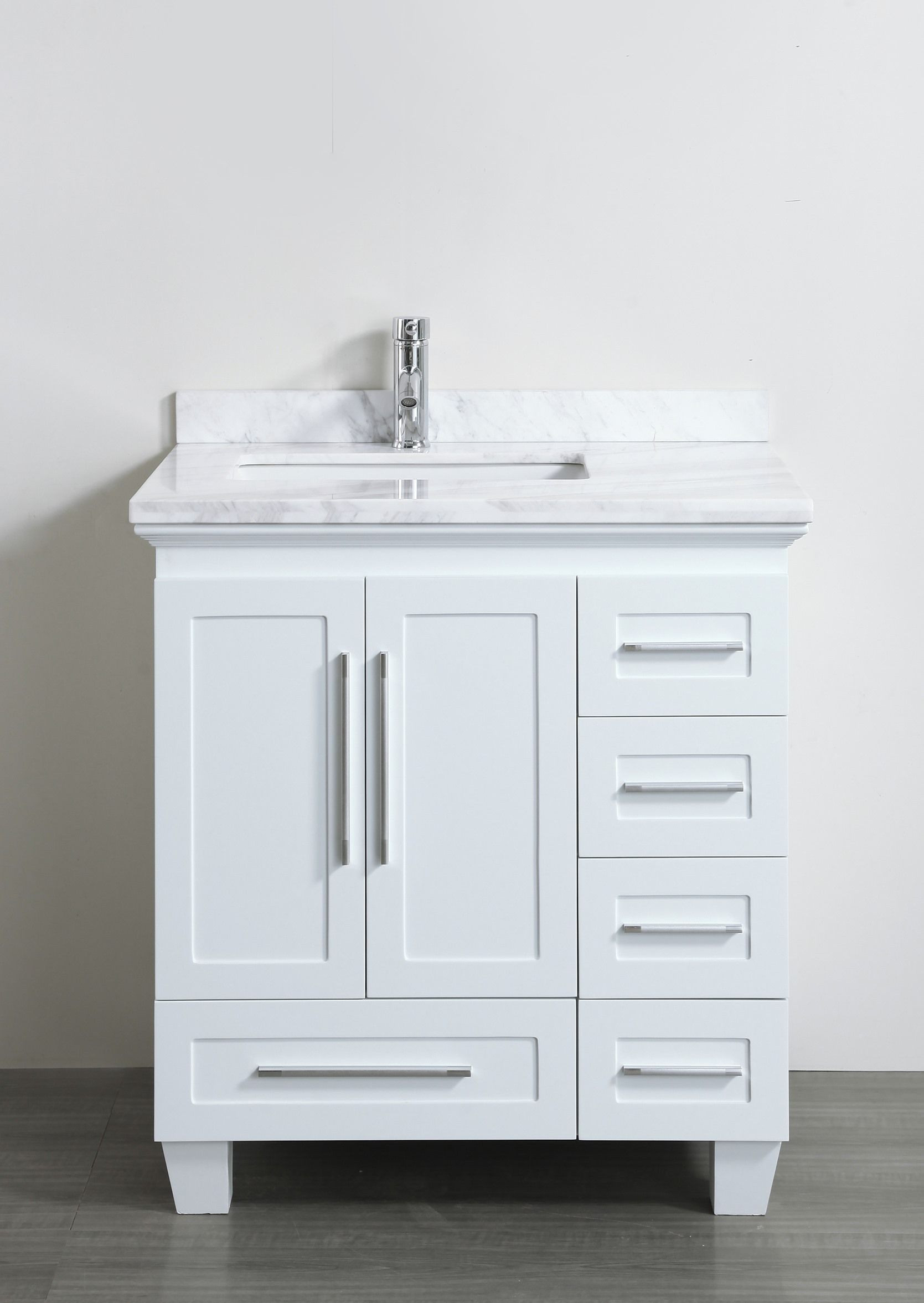 Best ideas about Bathroom Vanity 30 Inch . Save or Pin Accanto Contemporary 30 inch White Finish Bathroom Vanity Now.