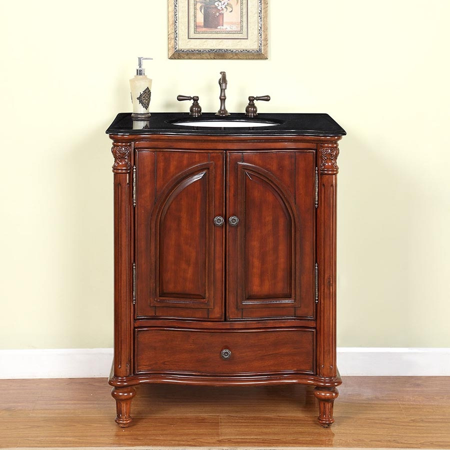 Best ideas about Bathroom Vanity 30 Inch . Save or Pin 30 Inch Traditional Single Bathroom Vanity with a Black Now.