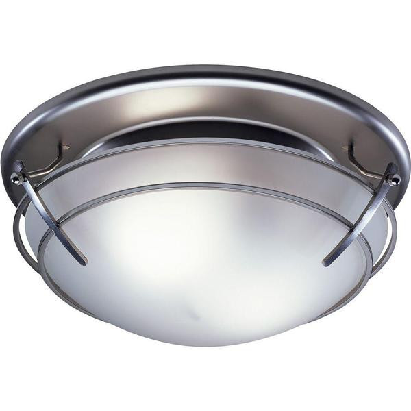 Best ideas about Bathroom Vent Fan With Light . Save or Pin Broan Decorative Satin Nickel with Frosted Glass Shade 80 Now.