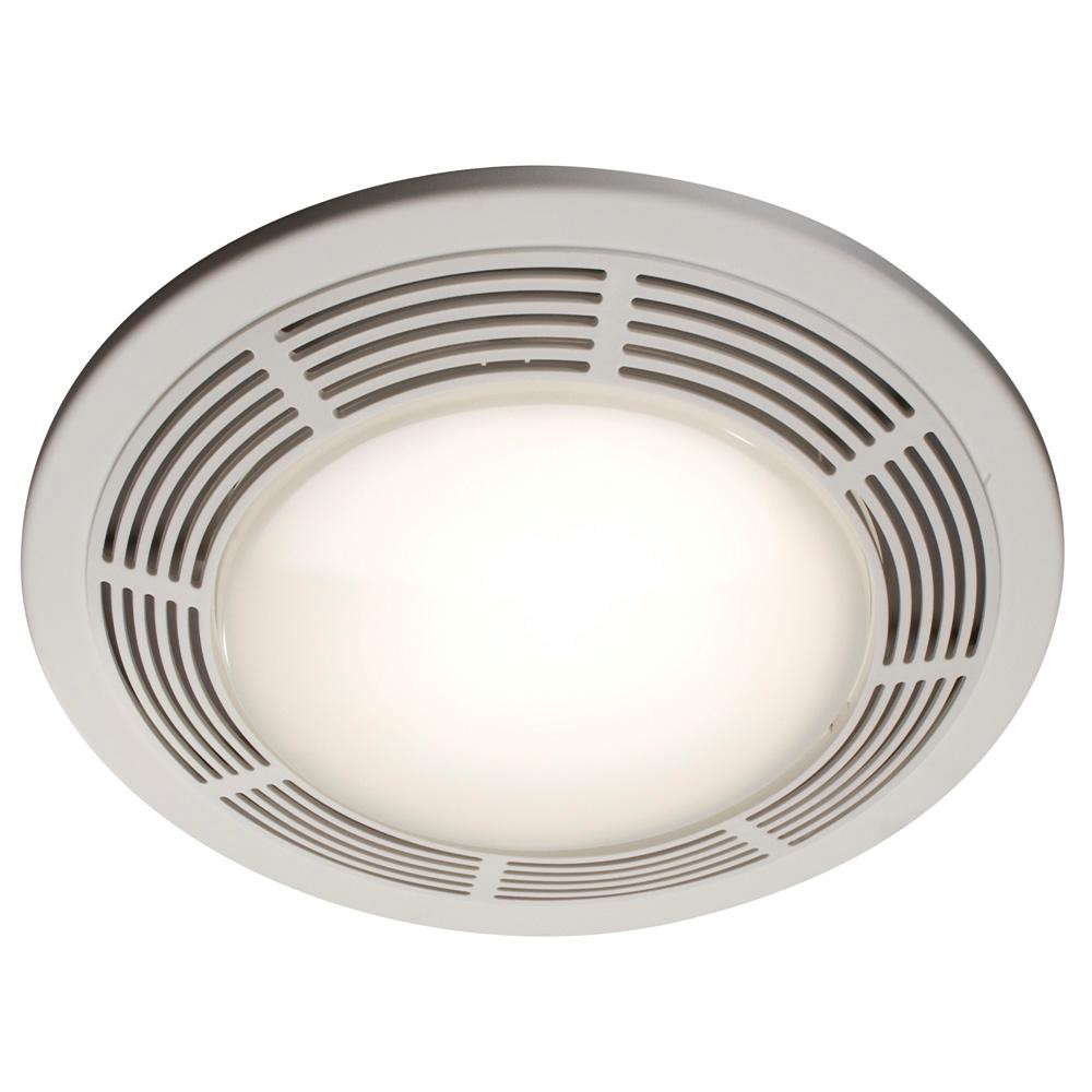 Best ideas about Bathroom Vent Fan With Light . Save or Pin Broan 100 CFM Ceiling Exhaust Fan with Light 696 The Now.