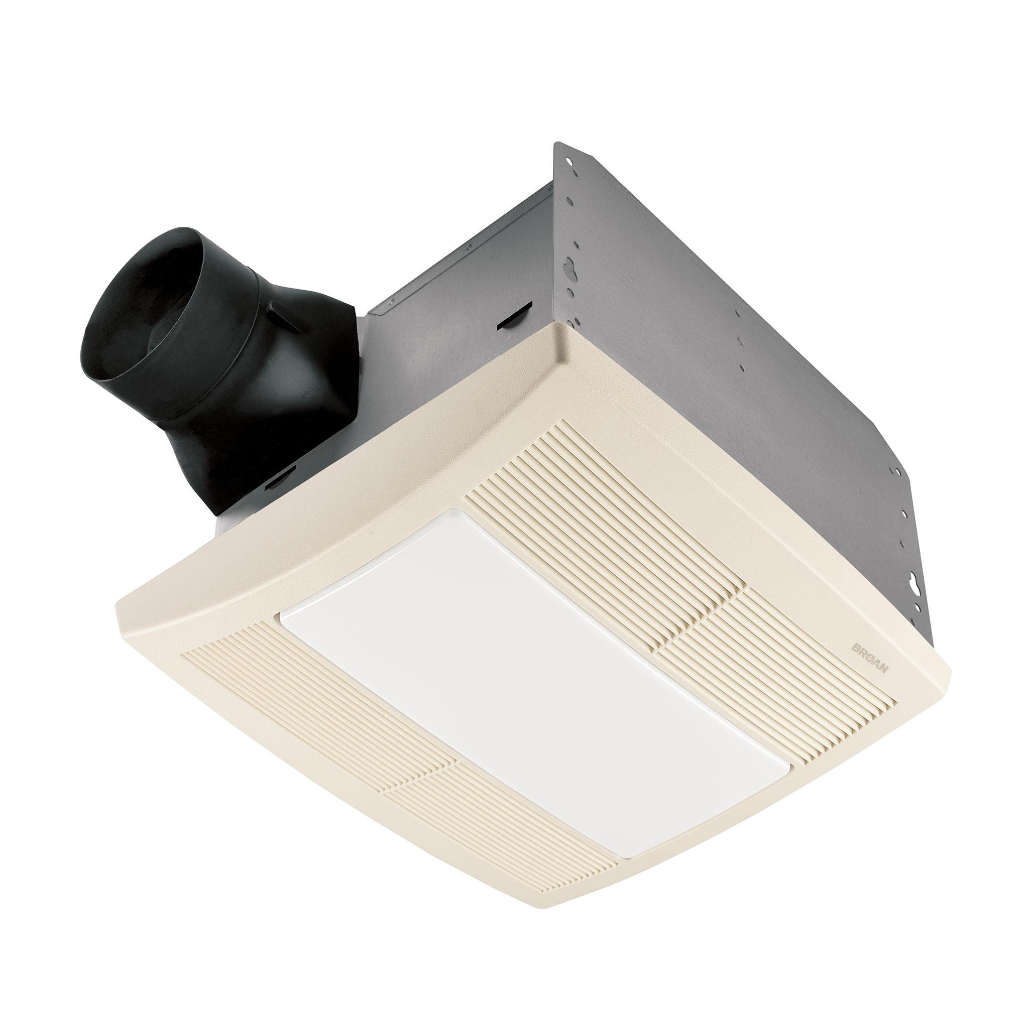Best ideas about Bathroom Vent Fan With Light . Save or Pin Broan QTR080L Ventilation Fan and Light Bathroom Fans Now.