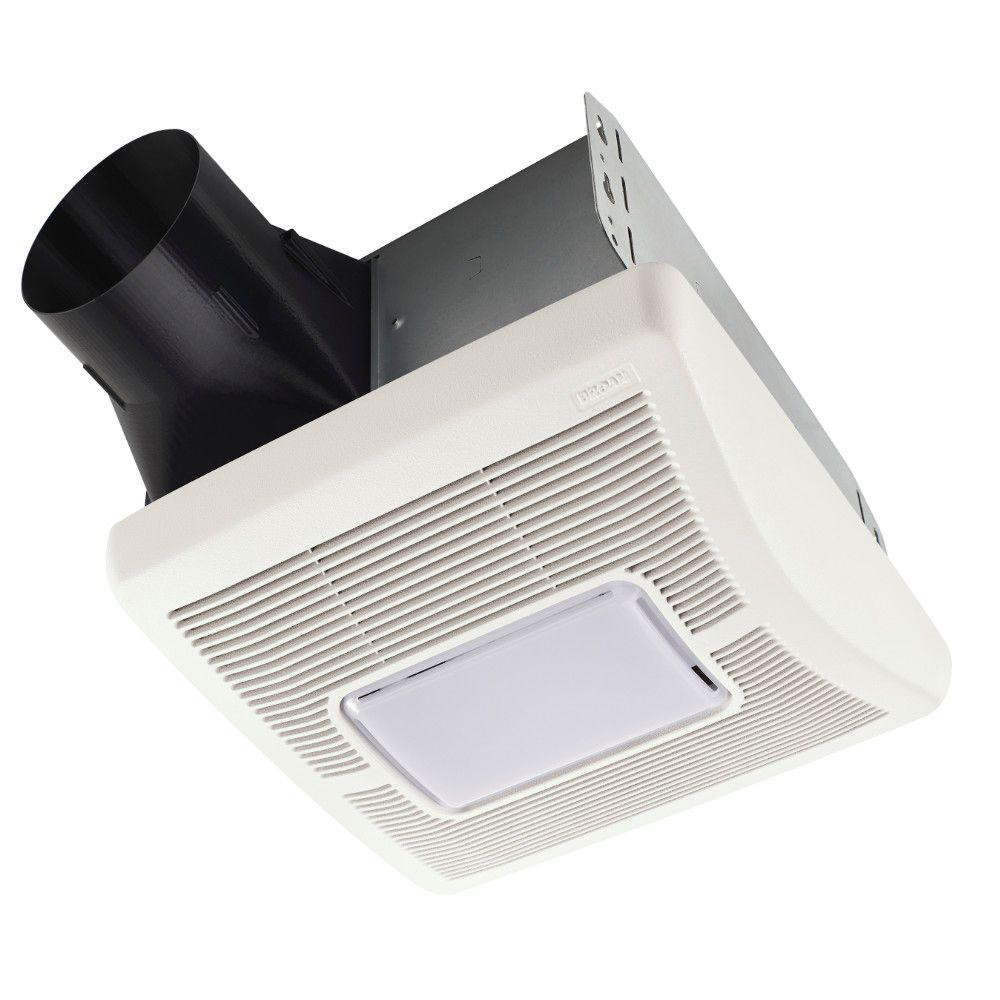 Best ideas about Bathroom Vent Fan With Light . Save or Pin 70 CFM Ceiling Exhaust Fan with Light and 1300 Watt Heater Now.