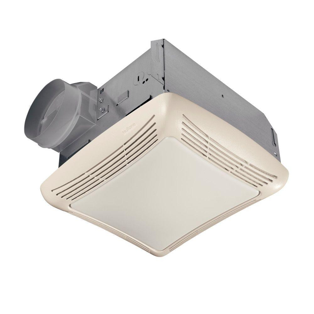 Best ideas about Bathroom Vent Fan With Light . Save or Pin NuTone 50 CFM Ceiling Exhaust Bath Fan with Light 763N Now.
