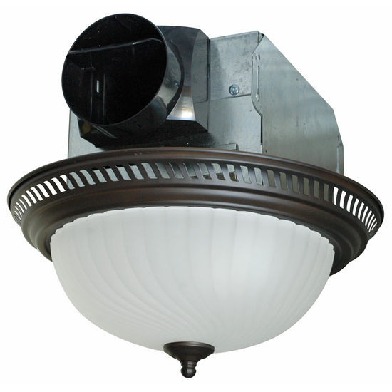 Best ideas about Bathroom Vent Fan With Light . Save or Pin Air King Quiet Decorative Round Bathroom Exhaust Fan with Now.