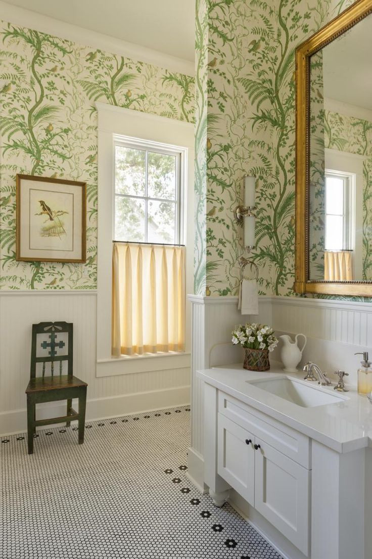 Best ideas about Bathroom Wall Paper . Save or Pin 17 Best ideas about Bathroom Wallpaper on Pinterest Now.
