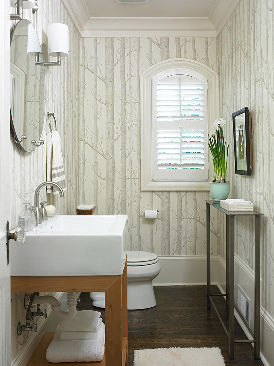 Best ideas about Bathroom Wall Paper . Save or Pin Wallpaper for the Powder Room The Inspired Room Now.