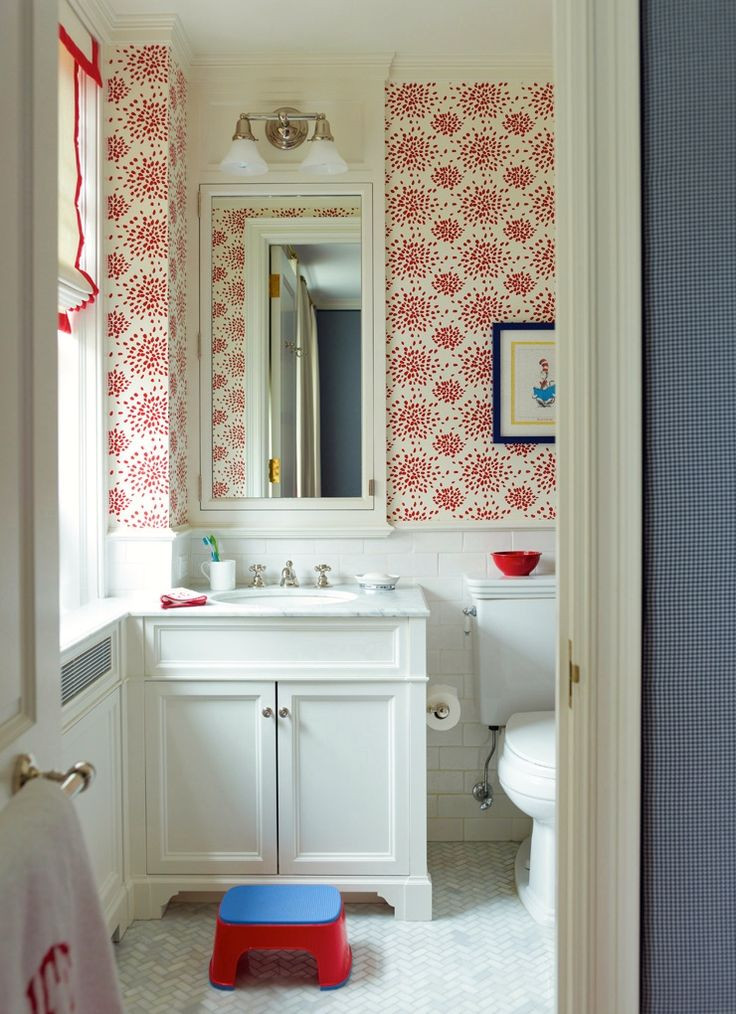 Best ideas about Bathroom Wall Paper . Save or Pin Top 10 Powder Room Wallpapers Now.