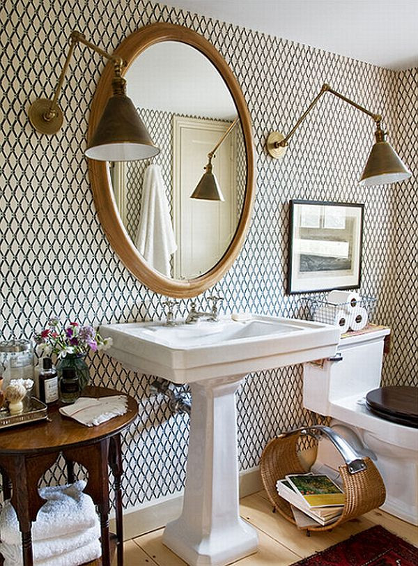 Best ideas about Bathroom Wall Paper . Save or Pin How to add elegance to a bathroom with wallpapers Now.