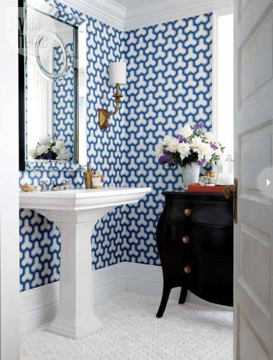 Best ideas about Bathroom Wall Paper . Save or Pin 18 Tips For Rocking Bathroom Wallpaper Now.