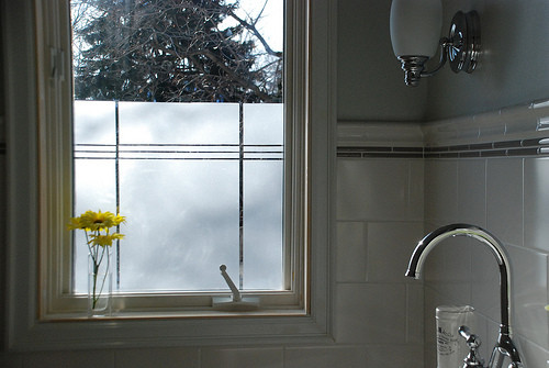 Best ideas about Bathroom Window Film . Save or Pin Creating Privacy in the Bathroom with Window Now.