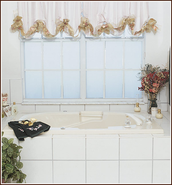 Best ideas about Bathroom Window Film . Save or Pin Privacy plus beauty equals wallpapered windows for the Now.