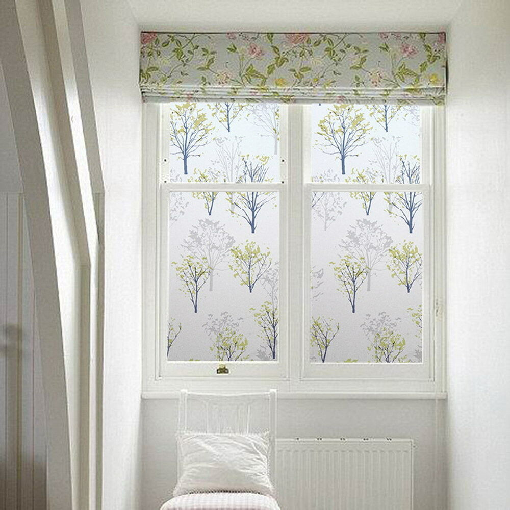 Best ideas about Bathroom Window Film . Save or Pin Trees Window Privacy Bathroom Window Decor DIY Now.