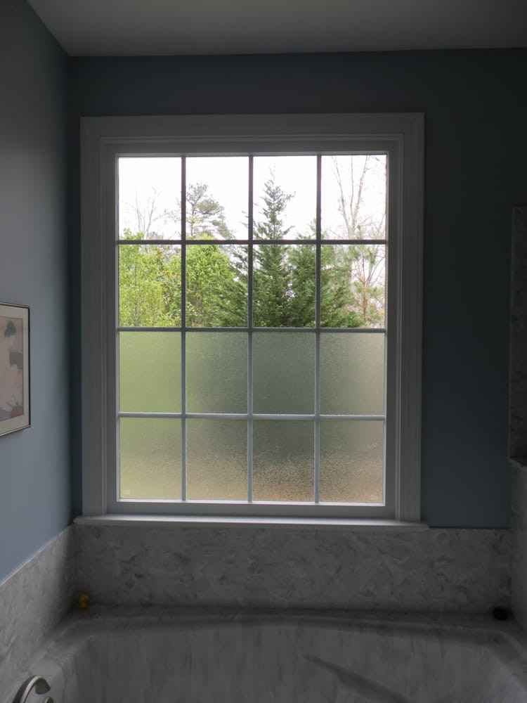 Best ideas about Bathroom Window Film . Save or Pin Oslo window film provides privacy on bottom of bathroom Now.