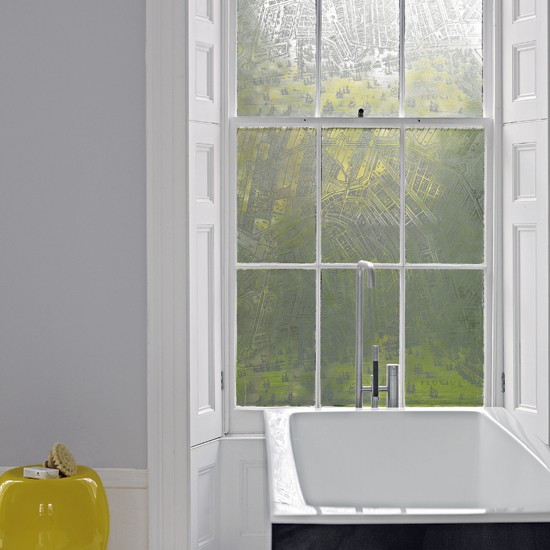 Best ideas about Bathroom Window Film . Save or Pin To da loos A splash of yellow in the bathroom can be a Now.