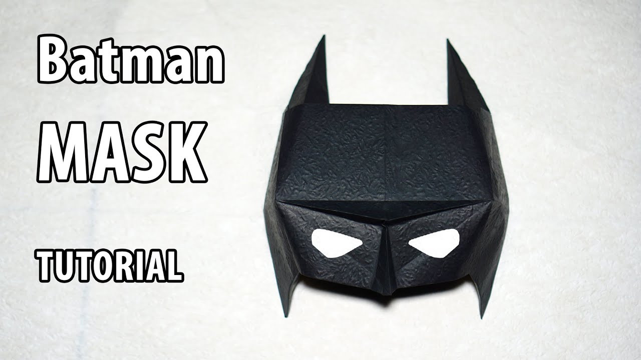 Best ideas about Batman Mask DIY . Save or Pin Easy Paper Batman mask tutorial Origami DIY Henry Phạm Now.