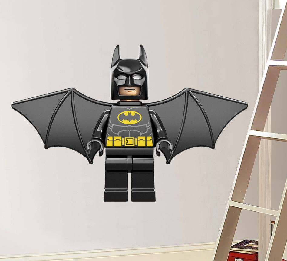 Best ideas about Batman Wall Art . Save or Pin Huge LEGO FLYING BATMAN Decal Removable WALL STICKER Home Now.