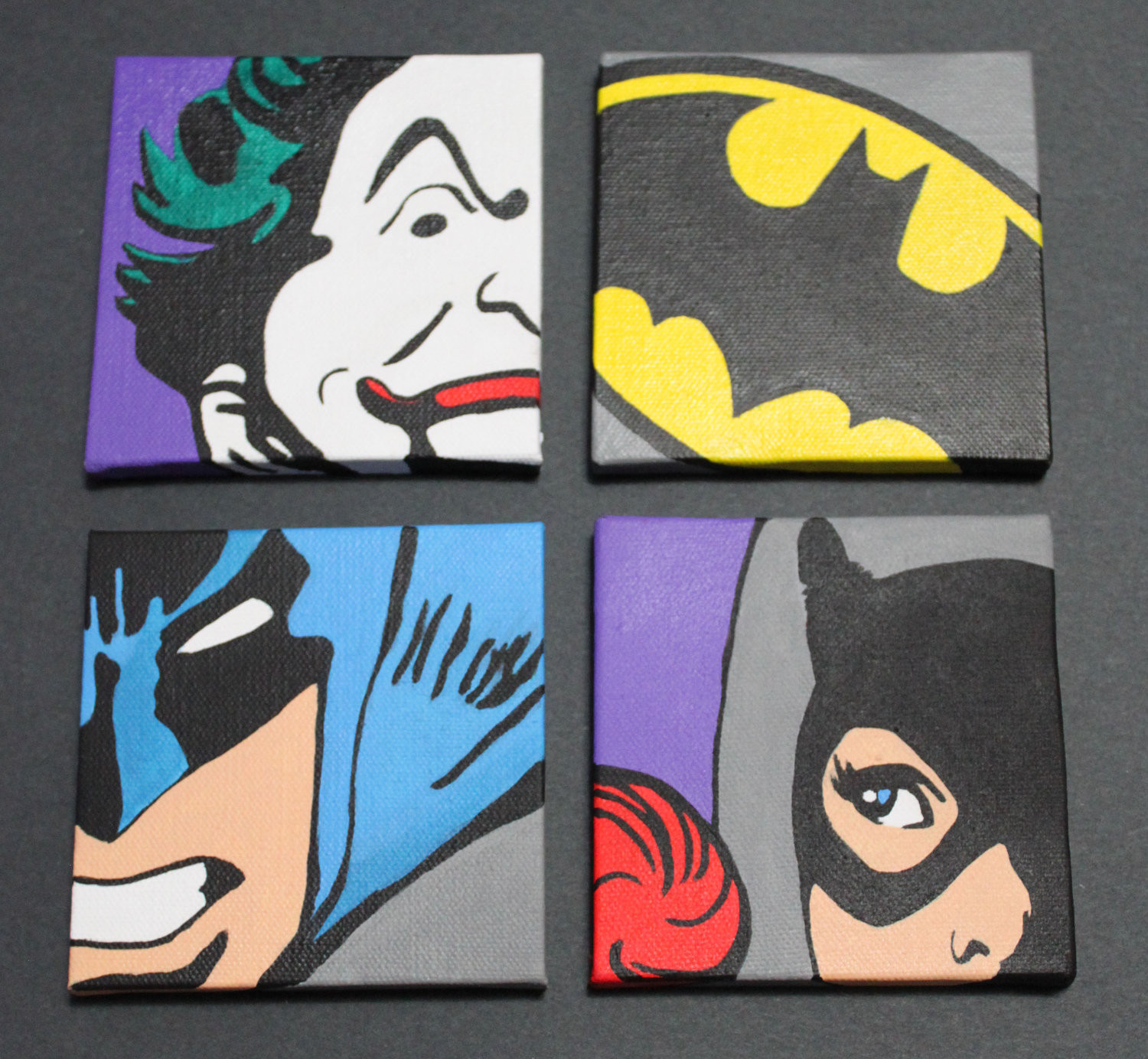 Best ideas about Batman Wall Art . Save or Pin Items similar to Classic Batman Set of 4 12x12 Wall Art Now.