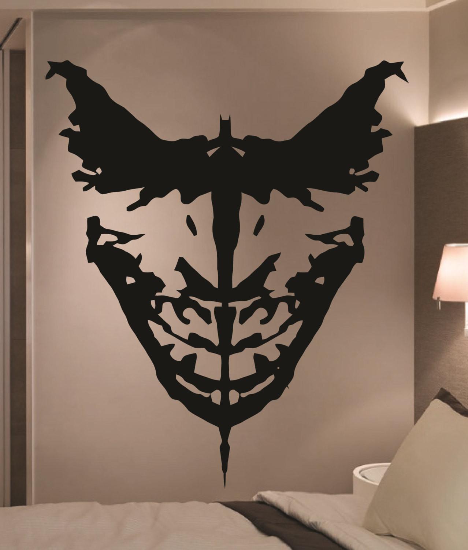 Best ideas about Batman Wall Art . Save or Pin Giant Batman & Joker Ink Blot ic Vinyl Wall Art by Now.