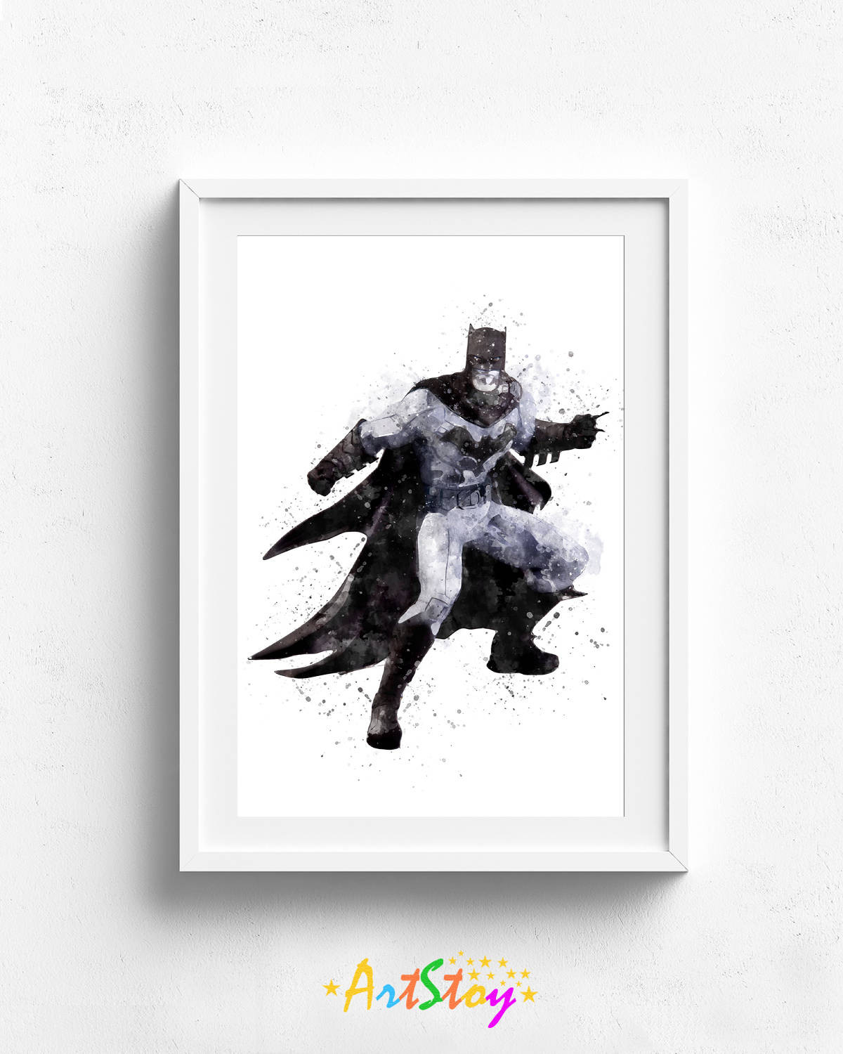 Best ideas about Batman Wall Art . Save or Pin Batman watercolor superhero wall art batman wall decor Now.