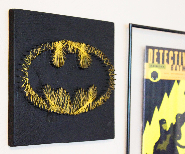 Best ideas about Batman Wall Art . Save or Pin Batman String Art Wall hanging Now.
