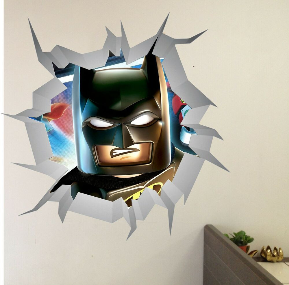 Best ideas about Batman Wall Art . Save or Pin LEGO AVENGERS Batman WALL CRACK wall art vinyl decor Now.