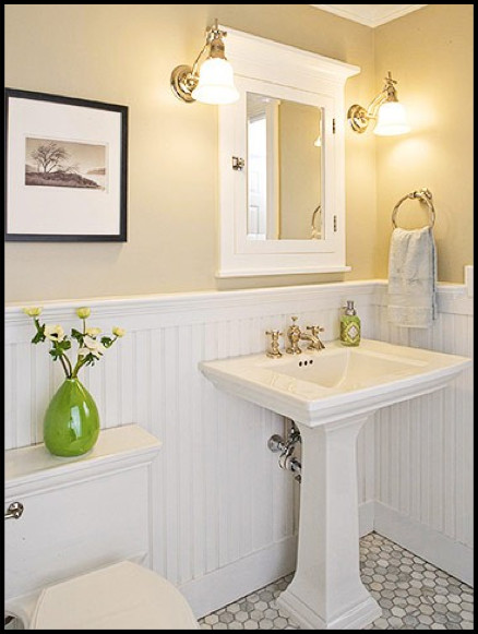 Best ideas about Beadboard In Bathroom . Save or Pin Adjustable Vintage Lamps Add Farmhouse Charm to a Vanity Now.