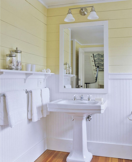 Best ideas about Beadboard In Bathroom . Save or Pin Yellow Bathrooms Ideas & Inspiration Now.
