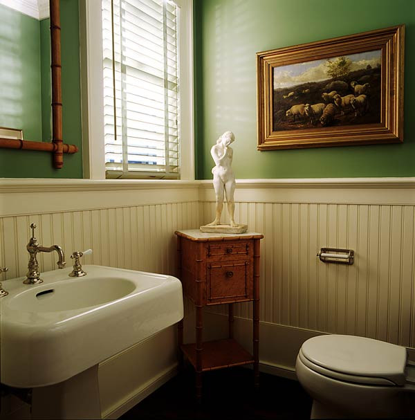 Best ideas about Beadboard In Bathroom . Save or Pin Twine How to update a 70 s Bathroom Now.