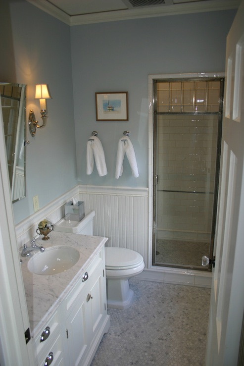 Best ideas about Beadboard In Bathroom . Save or Pin White Beadboard Bathroom Cottage bathroom Papyrus Now.