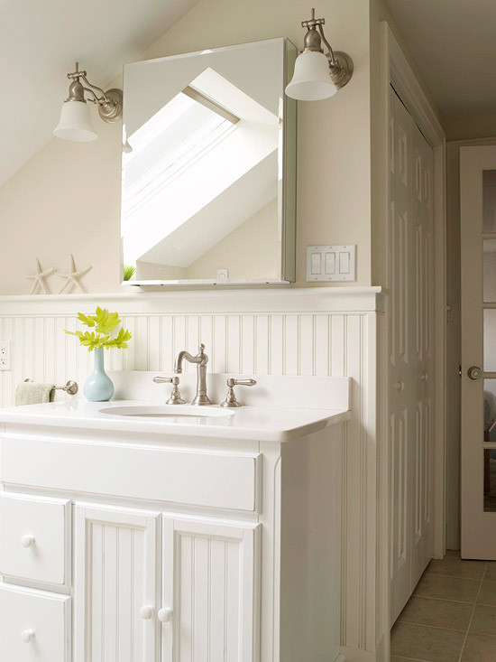 Best ideas about Beadboard In Bathroom . Save or Pin White Beadboard Bathroom Design Ideas Now.