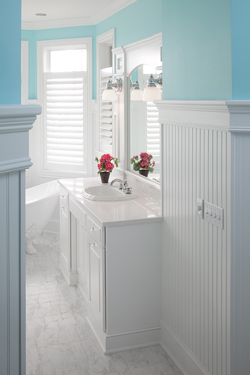 Best ideas about Beadboard In Bathroom . Save or Pin How does the beadboard standup in the bathroom Now.