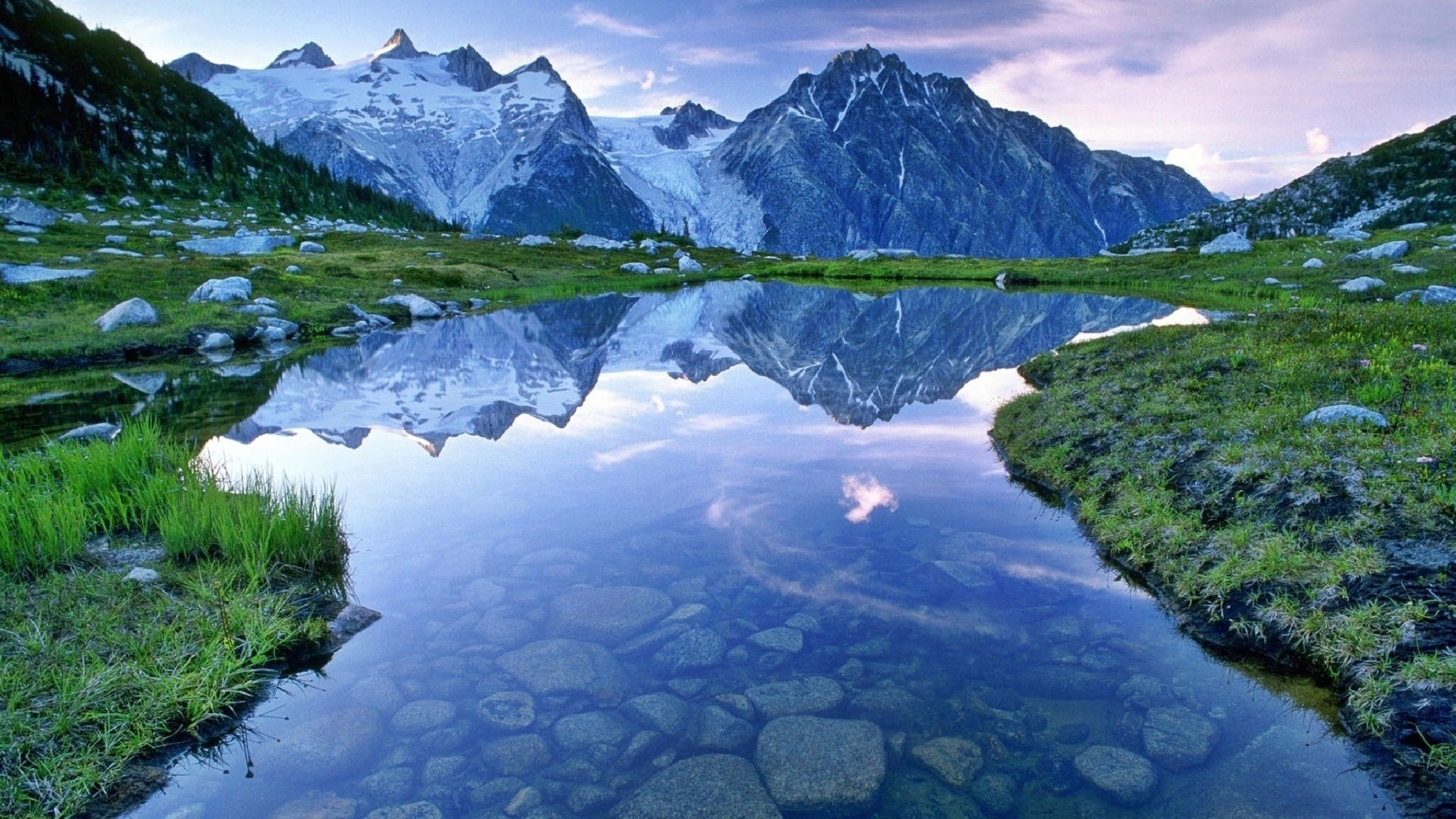 Best ideas about Beautiful Landscape Pictures . Save or Pin Beautiful Landscape Hd Wallpaper Water Mountains With Snow Now.