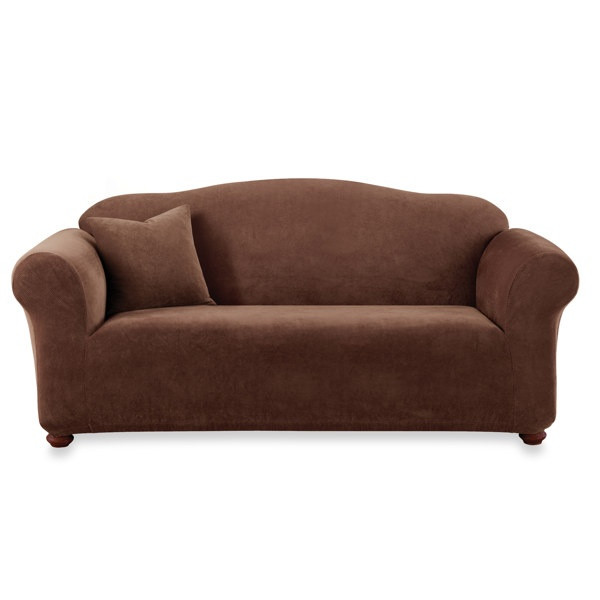 Best ideas about Bed Bath And Beyond Sofa Covers . Save or Pin Sure Fit Stretch Sterling Chocolate Sofa Slipcover Bed Now.