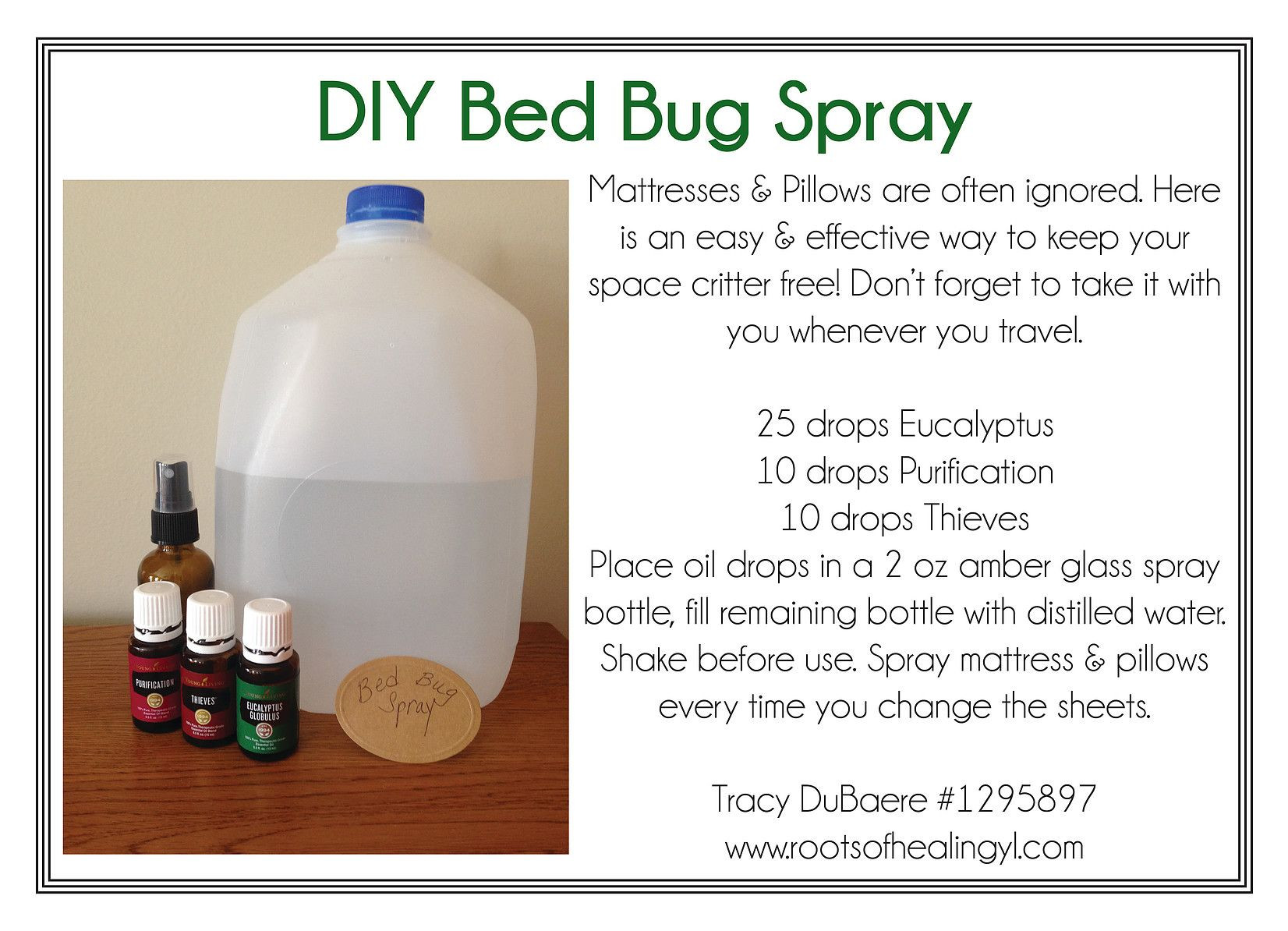Best ideas about Bed Bug Repellent DIY . Save or Pin DIY Bed Bug Spray with Essential Oils Oils Now.