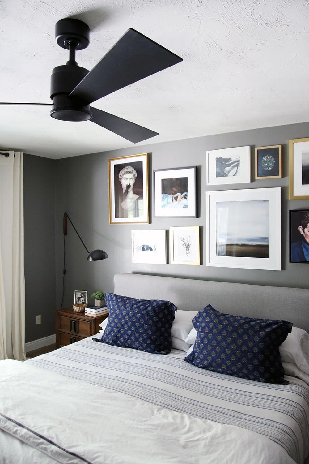 Best ideas about Bedroom Ceiling Fan . Save or Pin A Modern Ceiling Fan in our Bedroom Chris Loves Julia Now.