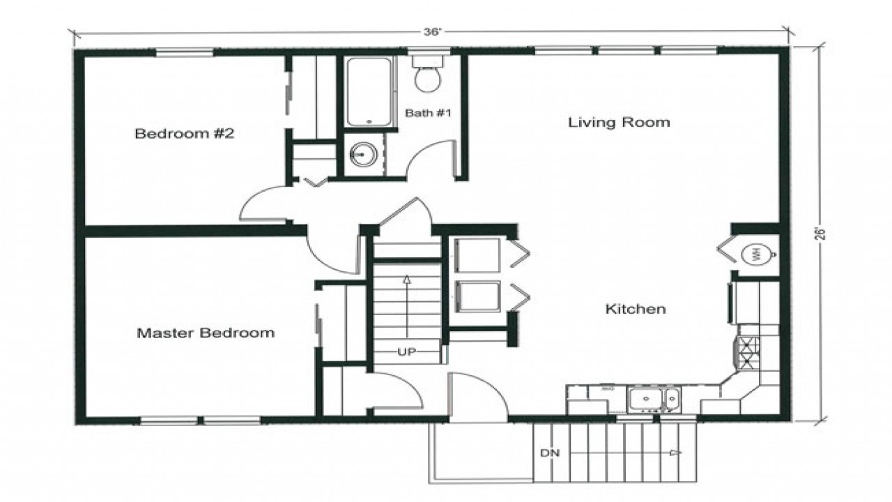 Best ideas about Bedroom Floor Plan . Save or Pin 2 Bedroom Apartment Floor Plan 2 Bedroom Open Floor Plan Now.