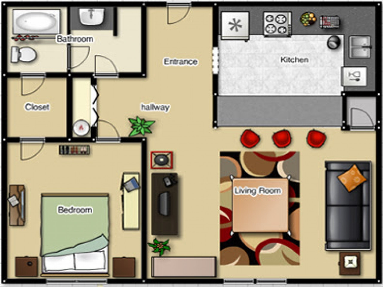 Best ideas about Bedroom Floor Plan . Save or Pin e Bedroom Apartment Floor Plan e Bedroom Apartment Now.