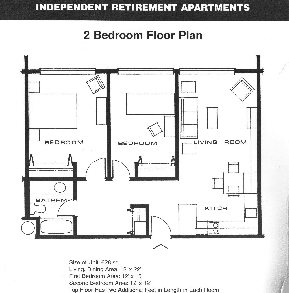Best ideas about Bedroom Floor Plan . Save or Pin Small 2 Bedroom Apartment Plans Now.